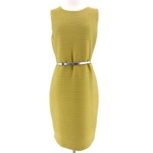 Stretchy Citron Sheath Dress by Calvin Klein
